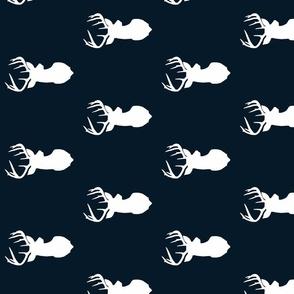 True Navy Blue Deer Sil Fabric