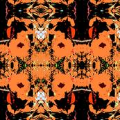 Batik Peach Poppies