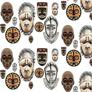 Masks on White