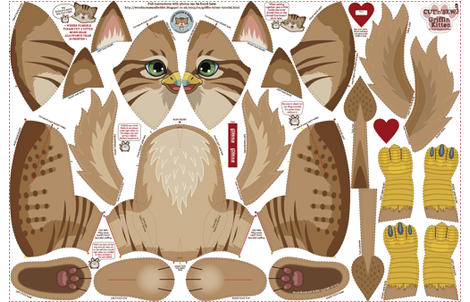 Griffin Kitten fabric by woodmouse&bobbit on Spoonflower - custom fabric