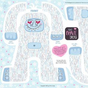 The LOVE Yeti... a huggie plushie