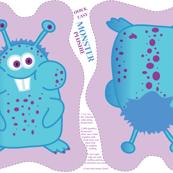Monster Plushie (purple/blue)