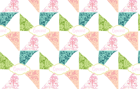 Island Pinwheels - personalized petal fabric by drapestudio on Spoonflower - custom fabric