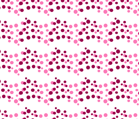 Wine and Pink Dot River fabric by rhyannon on Spoonflower - custom fabric