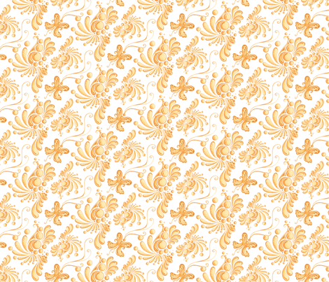 Golden Balls- Small- White Background, Ornate, Swirly, Butterflies, Designs fabric by nicole_denise_designs on Spoonflower - custom fabric