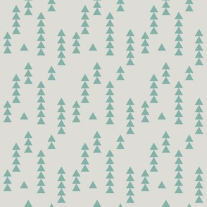 Stacked triangles teal