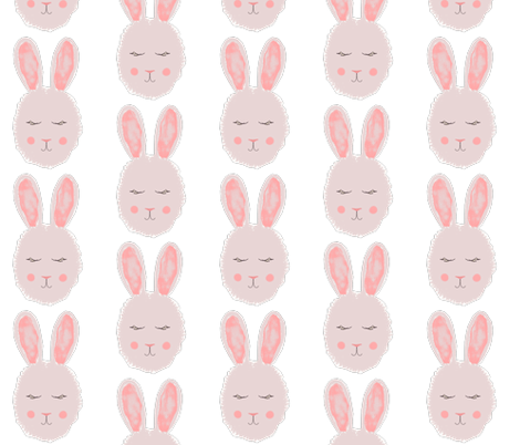 bunny fabric by natashagrace on Spoonflower - custom fabric