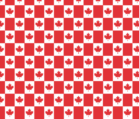 Canadian Flag fabric by shandubdesigns on Spoonflower - custom fabric