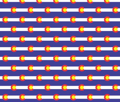 Colorado Flag fabric by shandubdesigns on Spoonflower - custom fabric