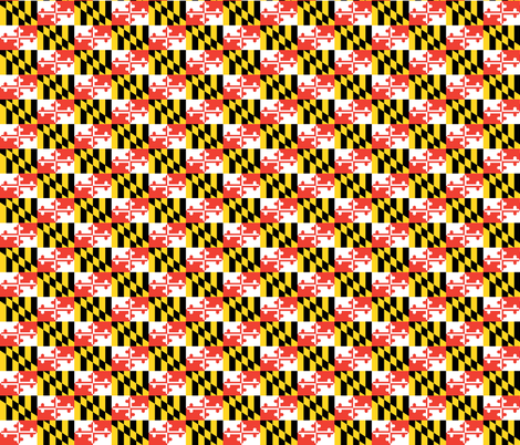 Maryland Flag fabric by shandubdesigns on Spoonflower - custom fabric