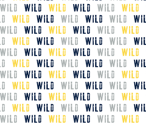 WILD // multi colored fabric by littlearrowdesign on Spoonflower - custom fabric