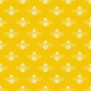 Bee, White on Yellow