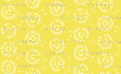 Dandelion Clock in yellow