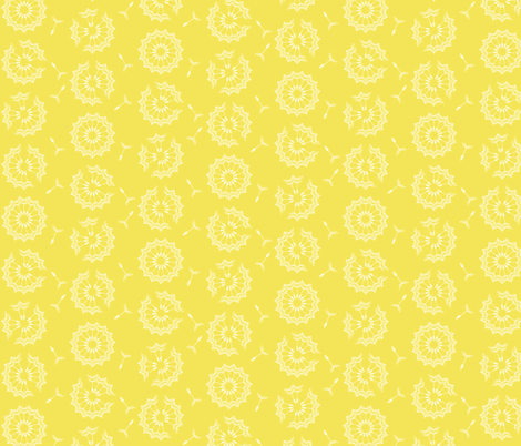Dandelion Clock in yellow fabric by kipandfig on Spoonflower - custom fabric