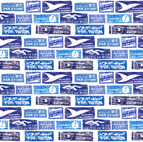 Par Avion fabric by crumpetsandcrabsticks on Spoonflower - custom fabric