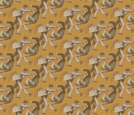 The Fight fabric by punkfishfamily on Spoonflower - custom fabric