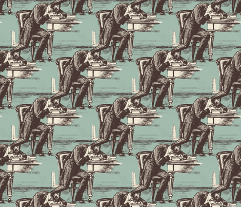 Despair fabric by punkfishfamily on Spoonflower - custom fabric