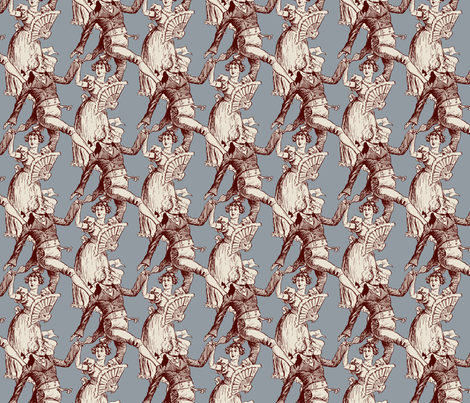 Not Too Haughty Sometimes fabric by punkfishfamily on Spoonflower - custom fabric