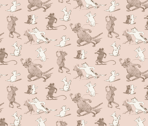 Kitty Cat's Revenge fabric by punkfishfamily on Spoonflower - custom fabric
