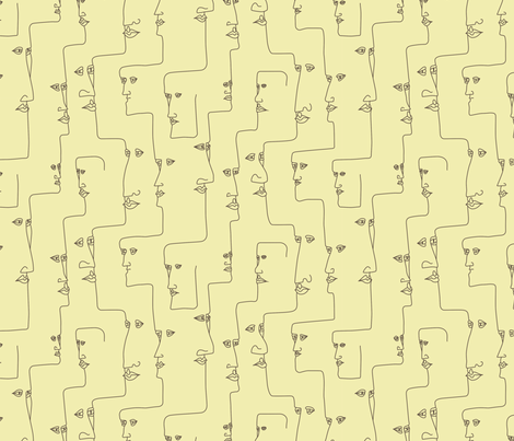 Connected Faces fabric by punkfishfamily on Spoonflower - custom fabric