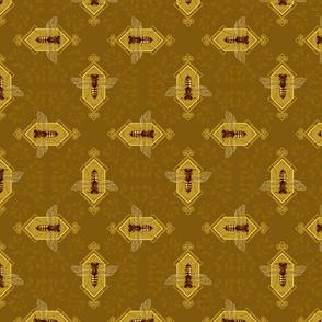 queen bee in honey