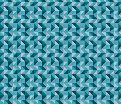 Teal Geo Triangles fabric by electrogiraffe on Spoonflower - custom fabric