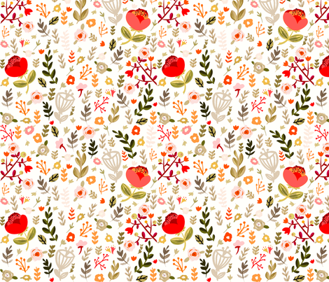 Sweet Mod Floral  fabric by ginamayes on Spoonflower - custom fabric