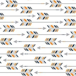 Small Arrows: Horizontal Navy, Orange & Gray