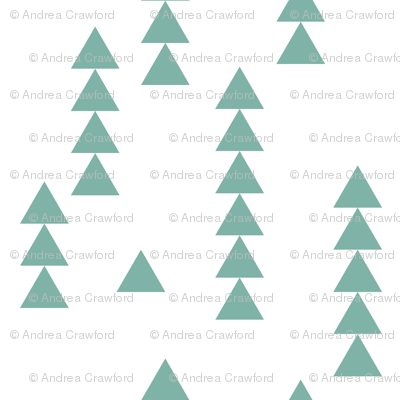 Stacked triangles teal and white