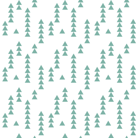 Stacked triangles teal and white fabric by mintpeony on Spoonflower - custom fabric