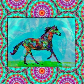 A Celtic Horse, In Mythic Fields