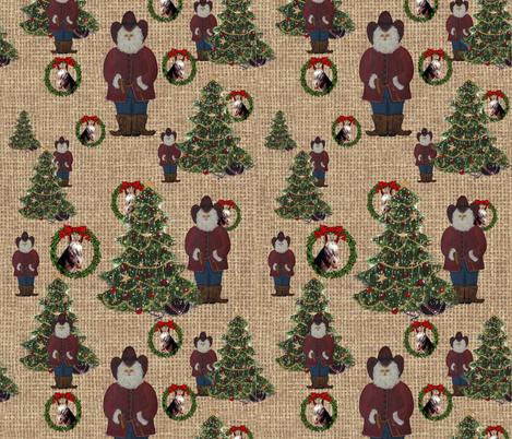 Texas Santas fabric by deercreekartworks on Spoonflower - custom fabric
