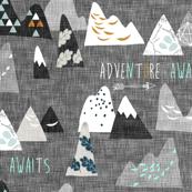 Adventure Awaits (charcoal) REGULAR