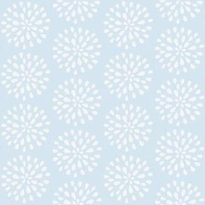 Bursting Bloom in Sea Blue-Small