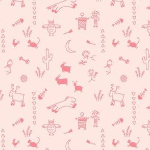caveman drawings - pink