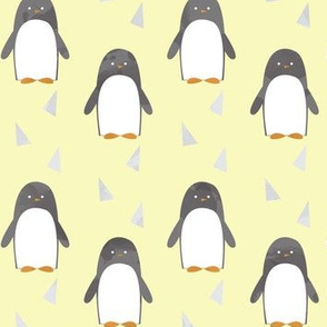Ice Cold Penguins - Yellow - Large Scale