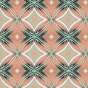 Circular- Coral, Mint, B & W-ch