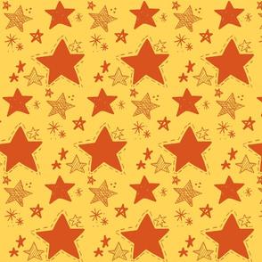 Stars doodle Orange
