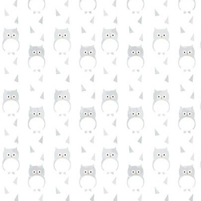 Ice Cold Owls - White - Small Scale
