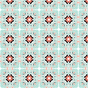 coral_mint_black_and_white_tile_2b