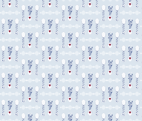 Welsh Wedding Spoons  fabric by lisakling on Spoonflower - custom fabric