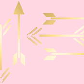 Metallic Arrow on Pink
