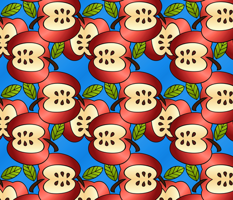 deco apples fabric by hannafate on Spoonflower - custom fabric