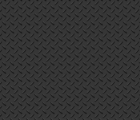 014 metal checker plate charcoal fabric orangeoctopus