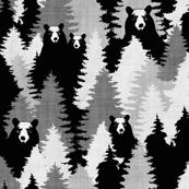 Bear Camo Black & White