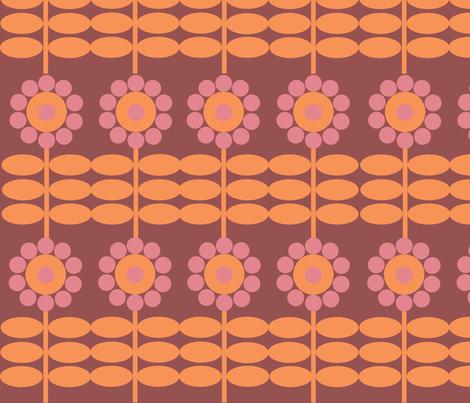 retro flower fabric by cathrin_gressieker on Spoonflower - custom fabric