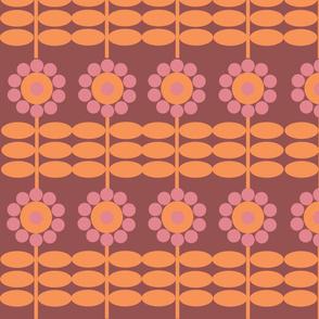 retro flower
