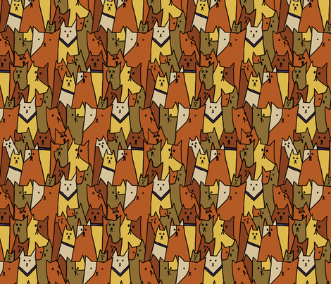 Cubist Cats fabric by linsart on Spoonflower - custom fabric