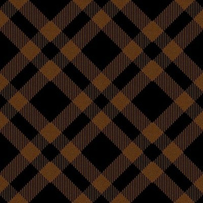 Black and Brown Plaid