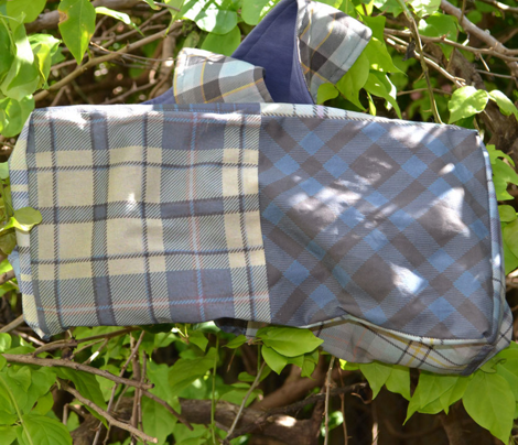 Blue and Charcoal Plaid
